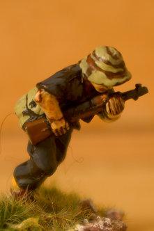 VVC 109 Infantryman, running, wearing jungle hat, holding SKS rifle