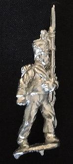 SAI 9 Grenadier marching, shouldered musket, wearing short jacket and shako