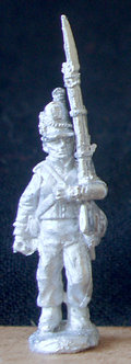 WAA 206	Infantry marching, March Attack, 1813 shako, roundabout