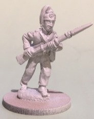 SVI 504 infantryman advancing, musket forward, campaign uniform