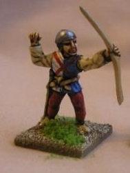 BBI 6Longbowman, loosing arrow, wearing cerveliere