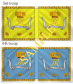 Jacobite Cavalry Flag sheet 31 Royal Regiment of Horse Guards 3rd and 4th troops