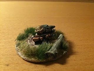 VVC 201  Spider hole, with VC infantryman, firing AK47.