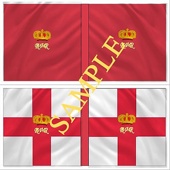 Williamite Flag sheet 54 First Regiment of Foot Guards