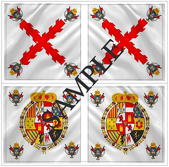 Liberators flags Sheet 1157 Royalist Infante Regiment