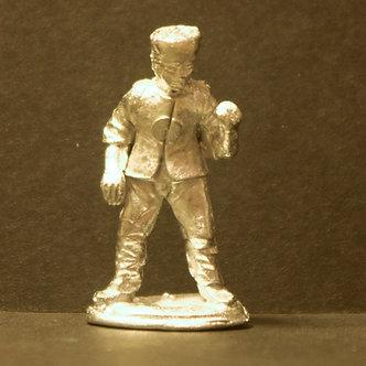 TII 56 Spearman, standing, porte arms.