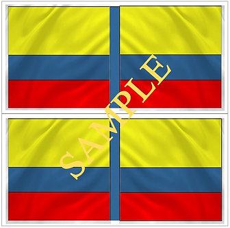 Liberators flags Sheet 1110 Gran Columbian flag