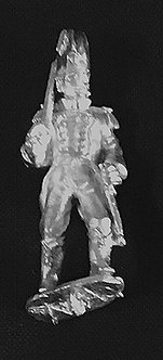 SRI 101 Infantry officer advancing, shouldered sword wearing tail coat, bicorn