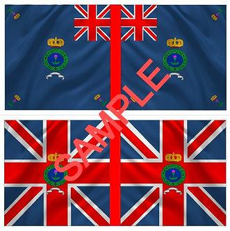 War of 1812 Flag sheet 1251-British 1st Regiment