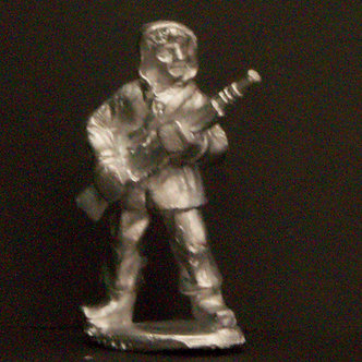 WWF 7     Infantryman standing, holding rifle, wearing snowsuit
