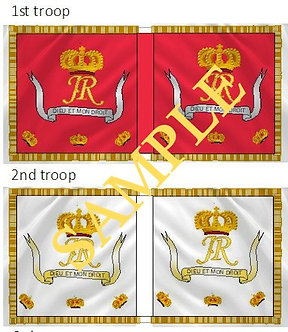 Jacobite Cavalry Flag sheet 30 Royal Regiment of Horse Guards 1st and 2nd troops