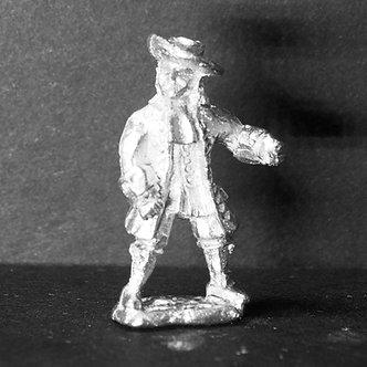 GRM30Rebel, standing, wearing open coat and hat, weapon upright
