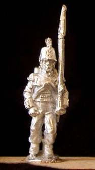 WAB 11Flank Coy. marching, shoulder arms, stovepipe shako