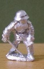 BBI 9*Armoured pikeman, receiving cavalry, wearing sallet