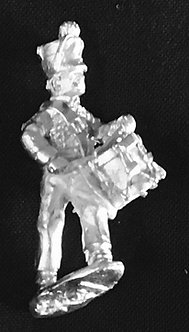 SRI 104  Infantry Drummer advancing, wearing short jacket and shako