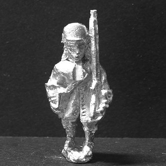 GRE15grenadier, marching, wearing cloth mitre