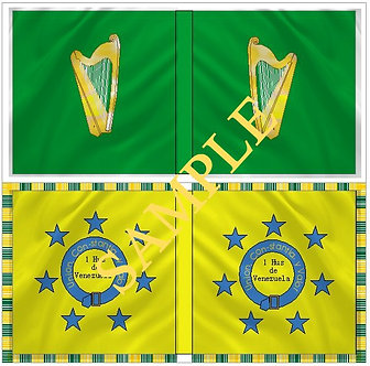 Liberators flags Sheet 1108 Irish Legion Flag, 1st Venezuelan Hussars