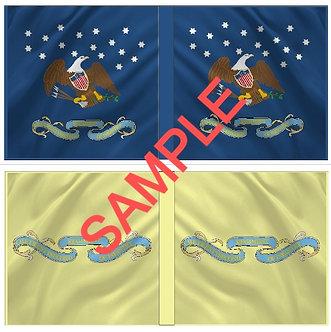 War of 1812 Flag sheet 1203-American 22nd Regiment