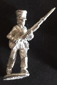 SBI 406 Infantryman, advancing, musket held at 45 degrees, wearing shako with oi