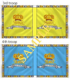 Williamite Cavalry Flag sheet 81 King's Life Guards 3rd and 4th Troops