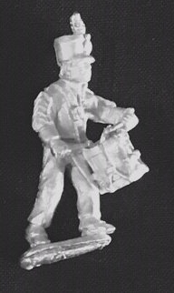 SAI 4  Infantry drummer marching, wearing short jacket and shako
