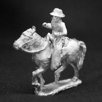 SAC 222 Gaucho, upright lance, wearing hat