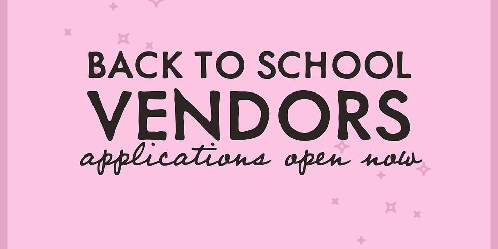 Back To School Vendor Application