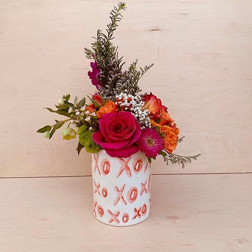 Small XOXO Vase