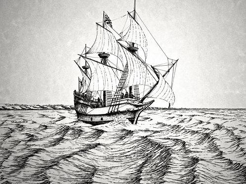 Sailboat on Waves