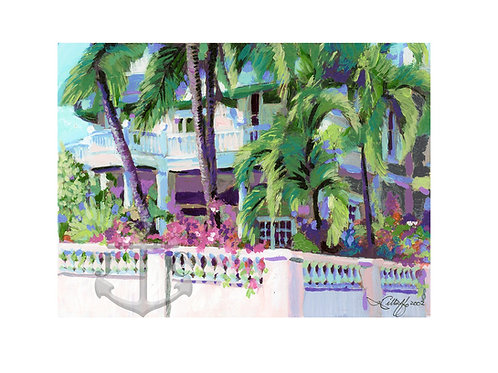 Key West Home Pink Palms