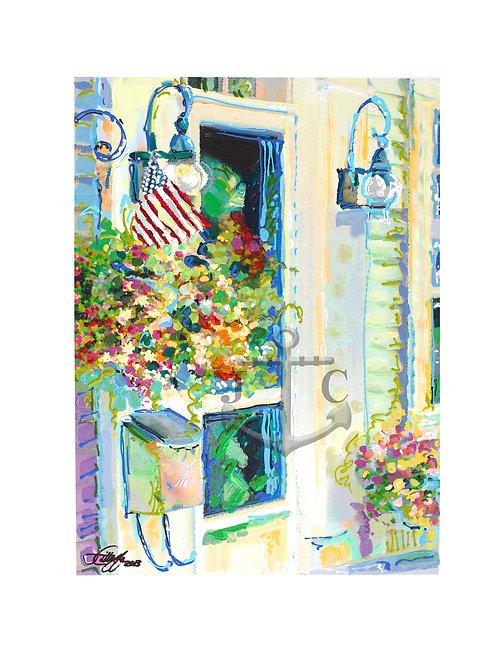 Door Mailbox & Flag