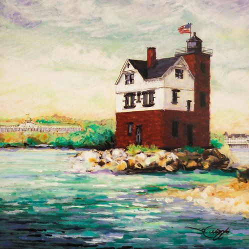 Round Island Light (Crayon)