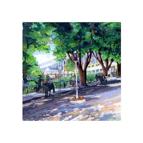 Grand Hotel Purple Green (Square)
