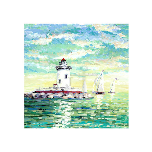 Harbor Beach Lighthouse (Square)