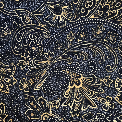 Gold Paisley Face Mask