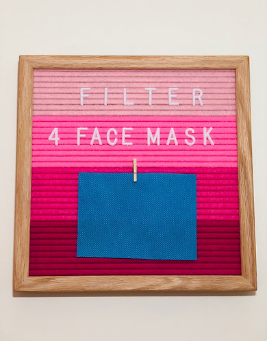 Filter (for Pleated Face Mask)
