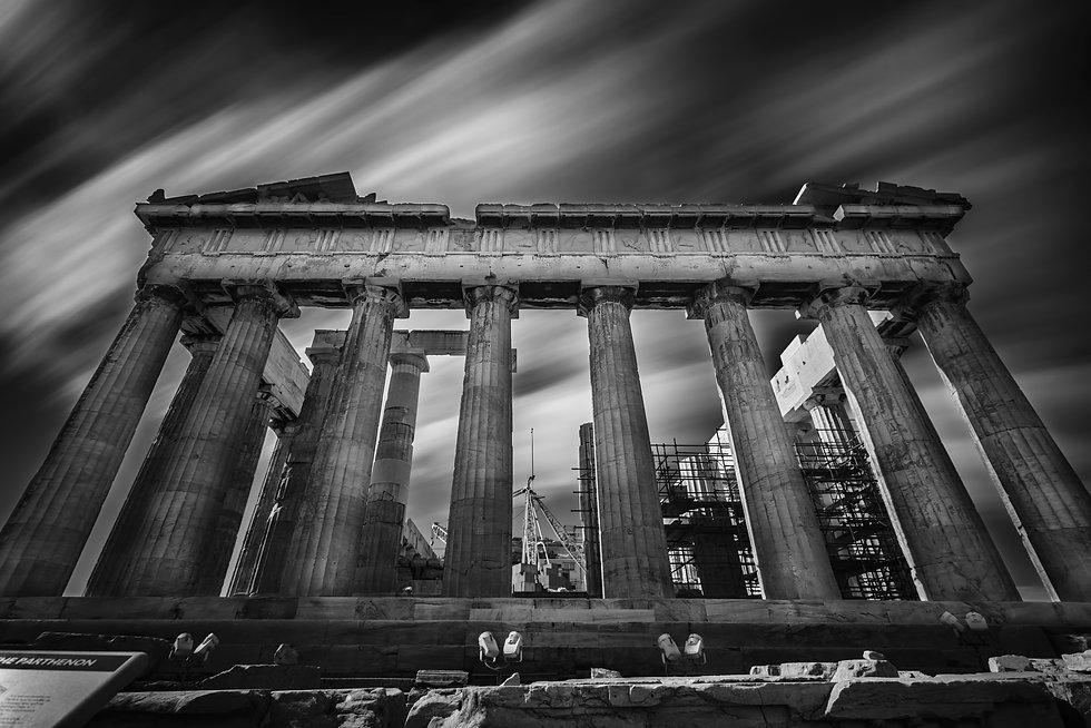 Parthenon temple on the Acropolis of Ath