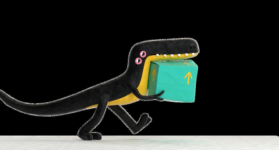Herrerasaurus Dino Render for Nodefest.