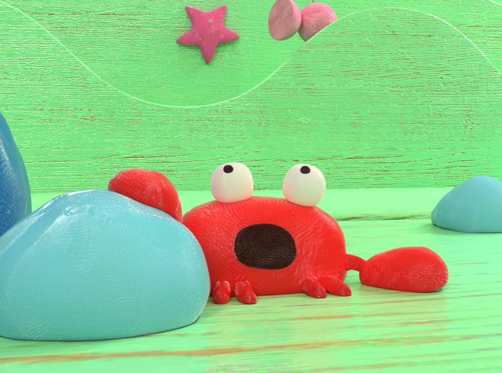 Clay 3D crab.