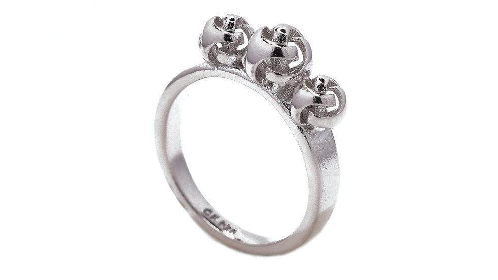 Universum Trio silver ring