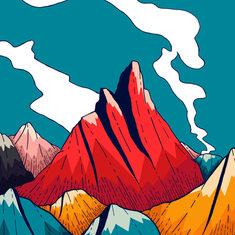 smoke trail mountains