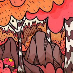 Autumn forest rocks