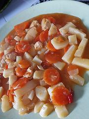 Poélé de Panais à l'aigre doux, carottes