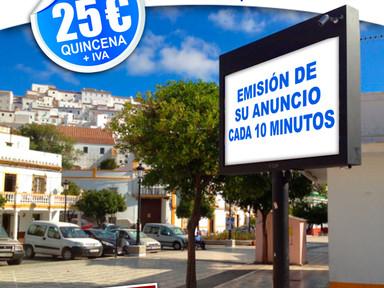 Pantallas digitales, el soporte publicitario más destacado del municipio