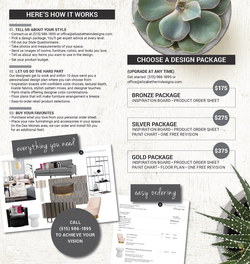 Elizabeth Erin Designs Brochure