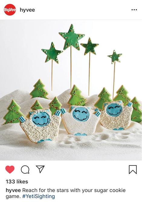 Hy-Vee Yeti Cookies