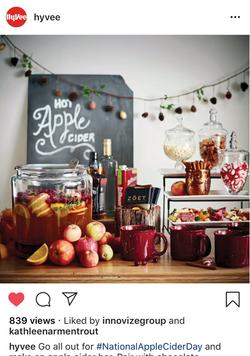 Hy-Vee Apple Cider Bar