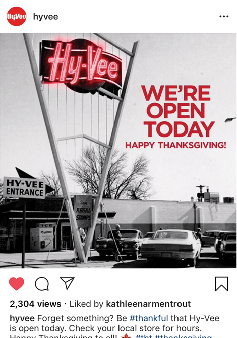 Hy-Vee Thanksgiving Greeting