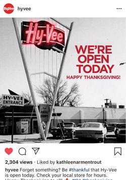 Hy-Vee Thanksgiving Greeting