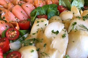 Koud buffet, gerookte vis, gerookte zalm, gerookte heilbot, koud buffet, levering aan huis, verzorging catering